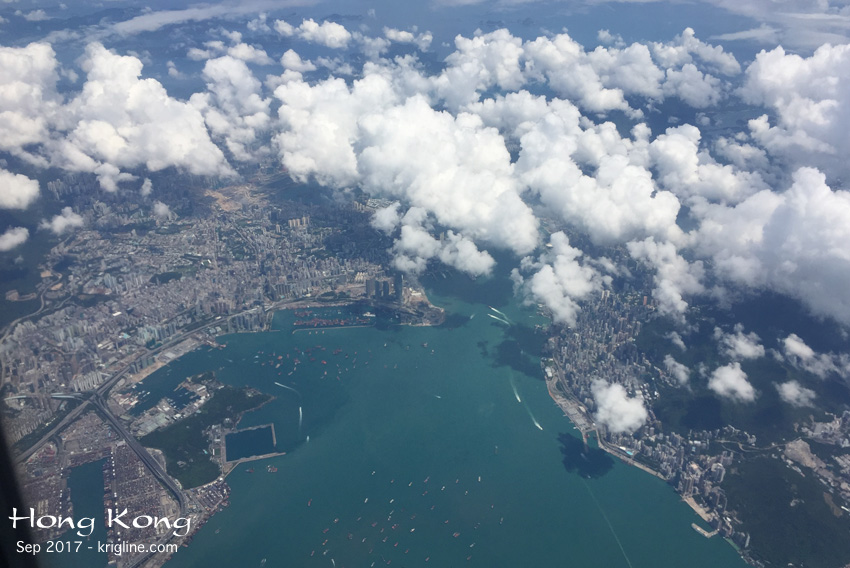 """As we flew into China from Hong Kong, I couldn't believe the view of HK below! I grabbed my iPhone6 and got some wonderful photos of """"home."""" (Write to me if you want a bigger image.)"""