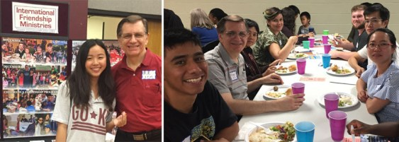 As time permits, Michael is also helping again with International Friendship Ministries--it is wonderful to meet and serve students and their families from all over the world.
