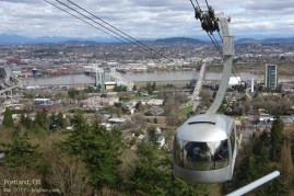 We started the trip at a conference in Portland Oregon. One unique feature of this city is the cable car that takes doctors and students (and tourists) between a major hospital by the river, and the medical university high above the city!