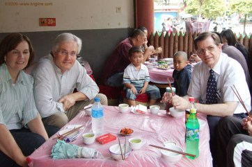 Michael with Rick and Barb, Kunming 2009