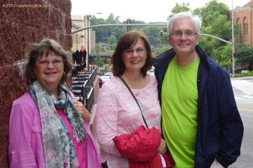Vivian with Barb and Rick, Garden City 2015