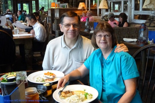 The salmon was great at the White River Fish House in Branson (thanks, Steve, for the recommendation!).