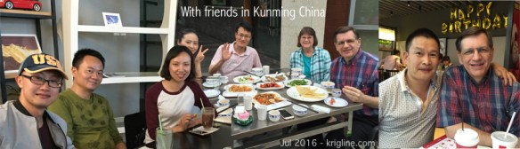 We lived in Kunming from 2005 to 2010, mostly teaching at Kunming Medical University. We were delighted that these busy doctors (and other friends) took time to visit with their old teacher!