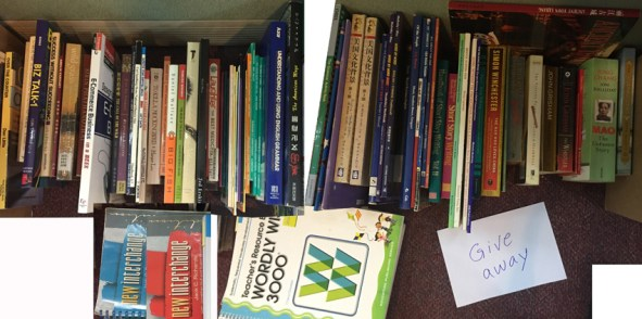 """Many """"teaching English"""" (and other) books. Free is you come get them."""
