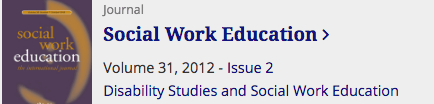 Image: Social Work Education Special Issue