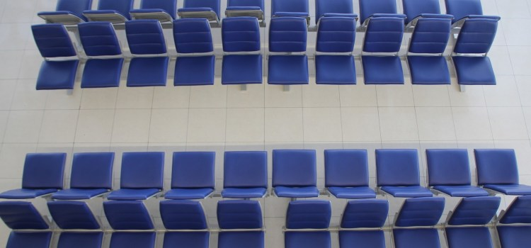 Empty seats in an airport