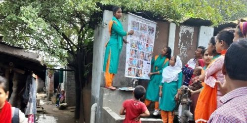 Girls educating their community through pictures