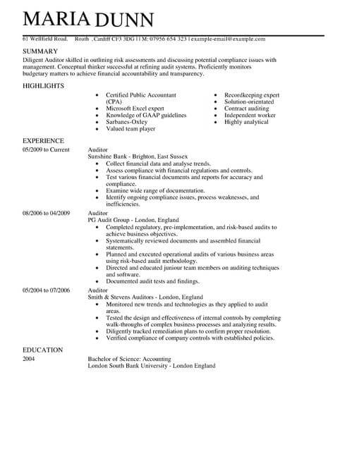 auditor resume auditor resume auditor resume example auditor