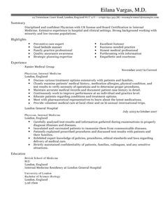 doctor cv example for healthcare livecareer