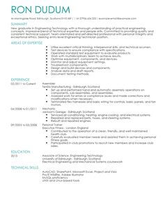 engineering technician cv example for engineering livecareer