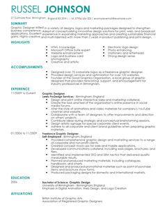 graphic designer cv example for marketing livecareer
