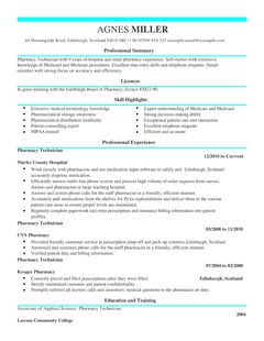 pharmacy cv examples sample resume cv for internship exle