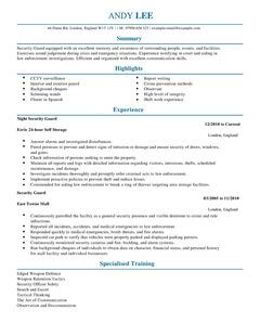 cv for security security cv security guard cv hashdoc security