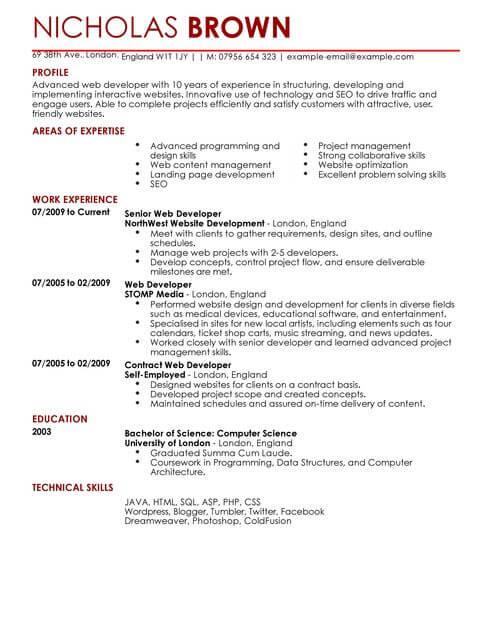 sample resume for java developer fresher samples oracle developer