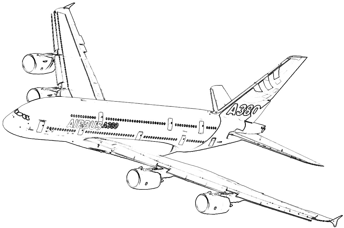 a380 coloring pages coloring pages