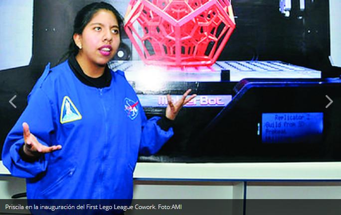 "Ontiveros, la joven que ""regala "" una escuela de robótica a El Alto"