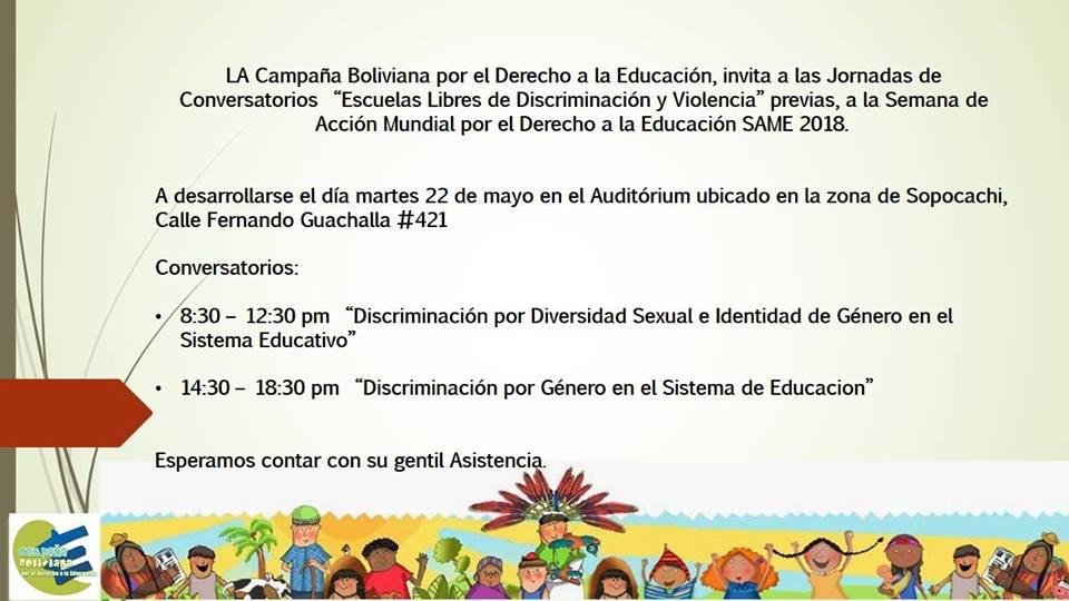 """Conversatorio """"Escuelas Libres de Discriminación y Violencia"""""""