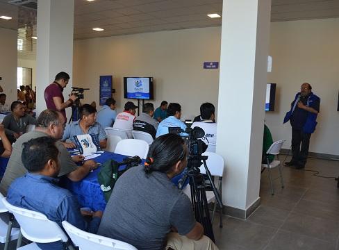 Educación y Deportes se reunieron con la prensa en Centro de Alto Rendimiento
