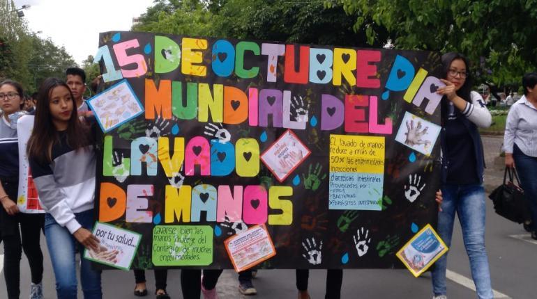 Concientizan a niños por el Día Mundial del Lavado de Manos
