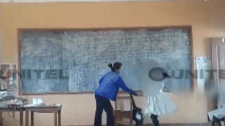 Filman brutal golpiza que una profesora propinó a su estudiante