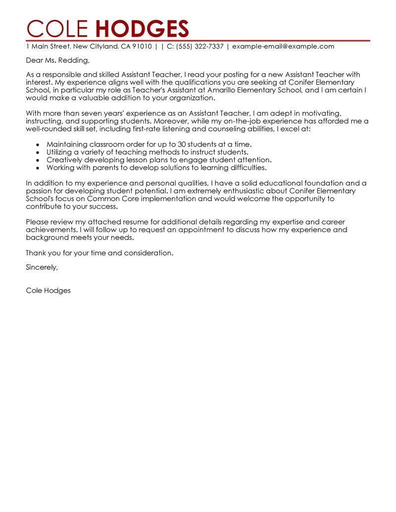 Graduate schol teaching assistant resume
