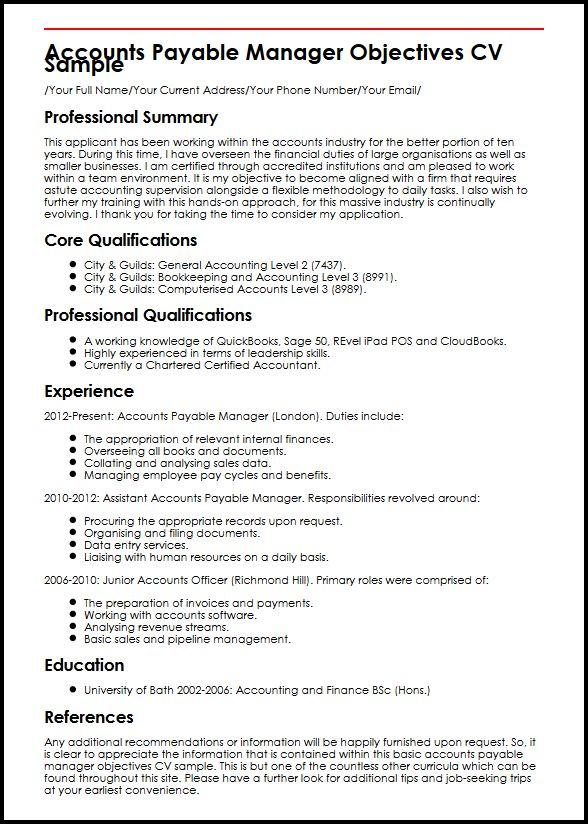 Account Payable Clerk Resume Format. resume samples free ...