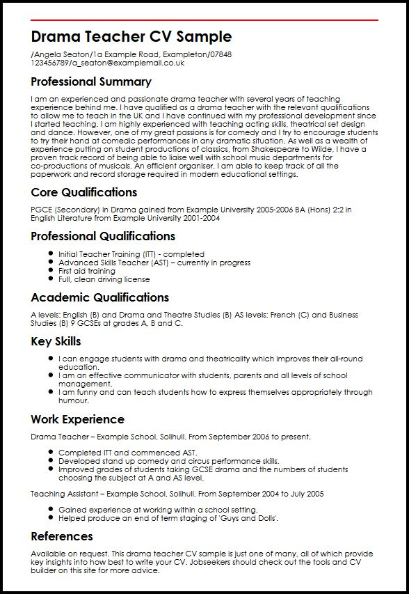 Drama Teacher Resume Examples. Toddler Management Objective For
