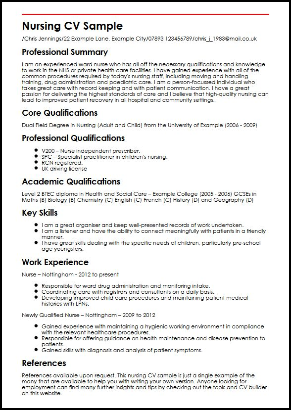 Nurse Practitioner Resume Builder. Nurse Resume Nursing Student