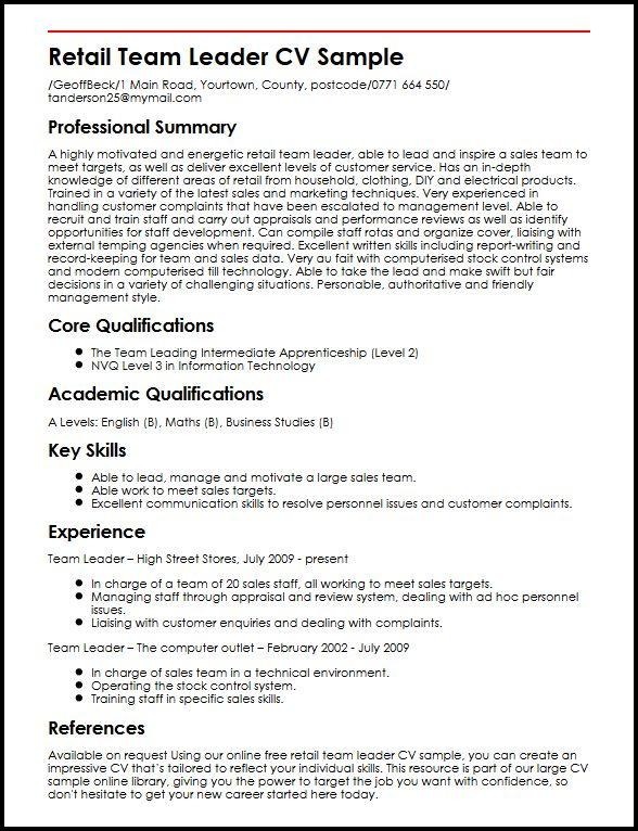 15 breathtaking sales team leader cover letter resume ...