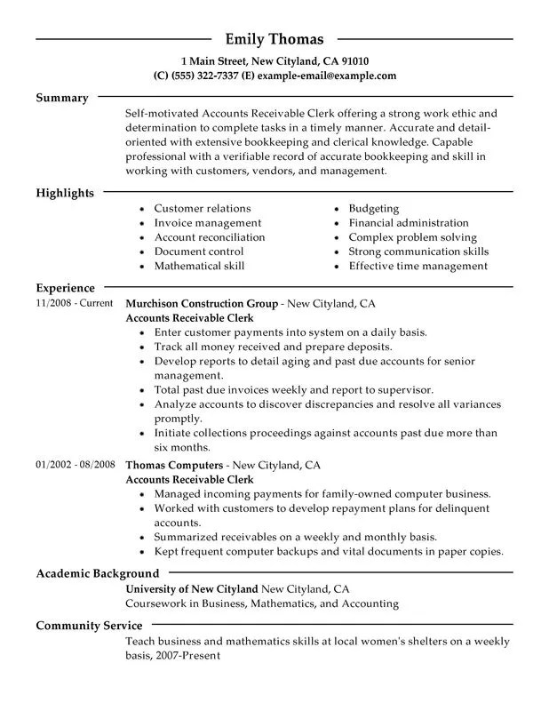 accounts payable resume template template