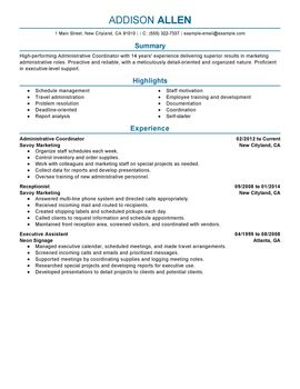impactful professional administration amp office support resume