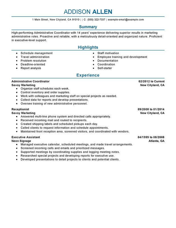 Insurance Benefits Administrator Resume. community renewal team ...