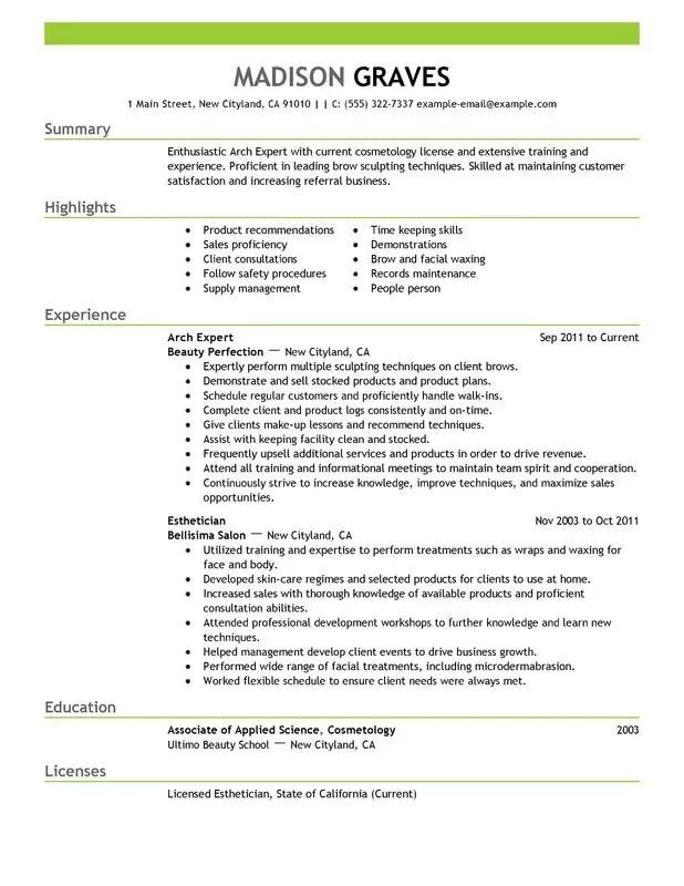 Student Esthetician Resumes. 27 Esthetician Resume Examples Alexa