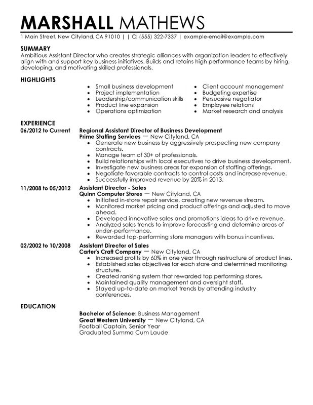 Example Of Perfect Resume 010716_Resume_Rules Resume Templates