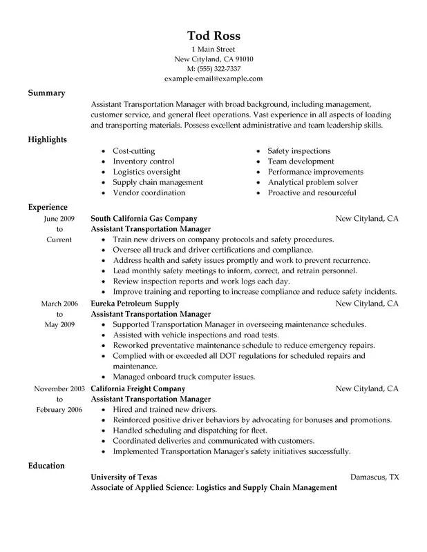Fleet Manager Resume. Resume Template Fleet Manager Resume