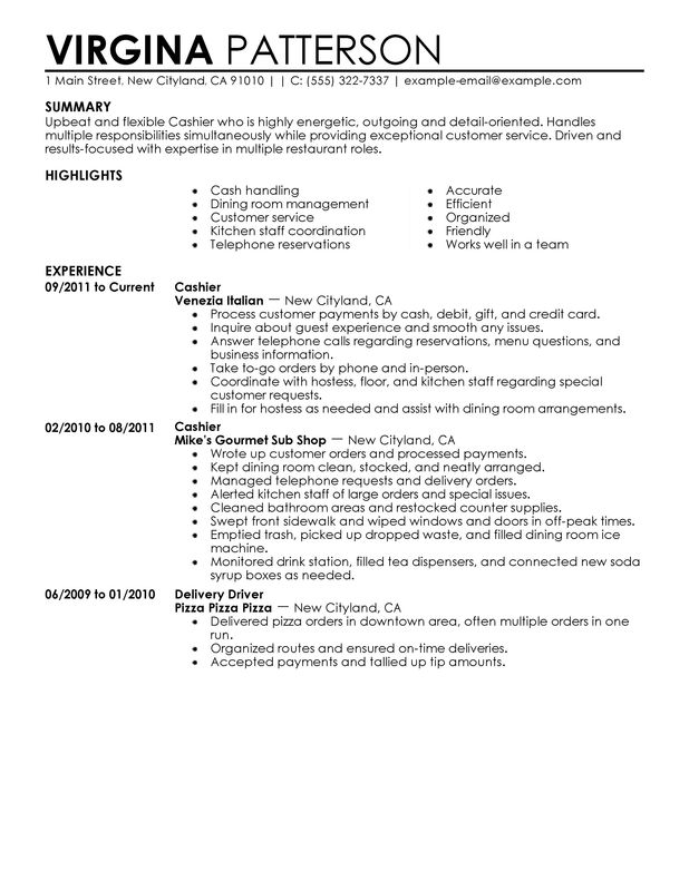 A Perfect Resume Example. Perfect Resume Resumes Writing Template