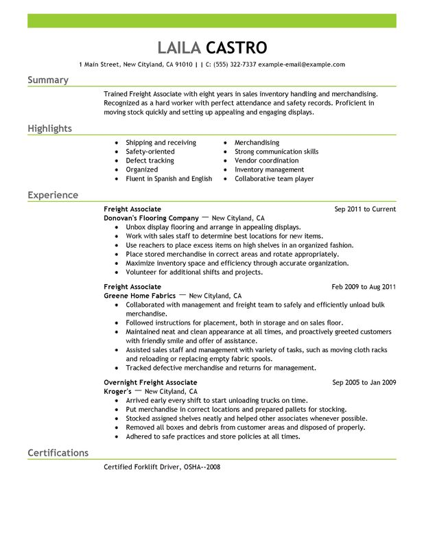 Skills For Resume For Retail Sales. Resume Template Sales