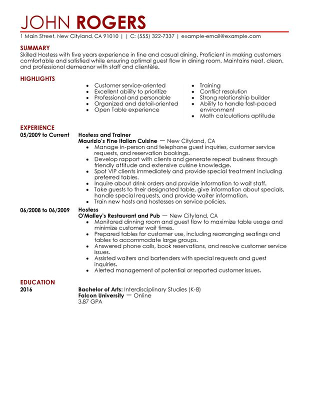 Example Of Resume Job Experience. Resume Examples Resume And The O