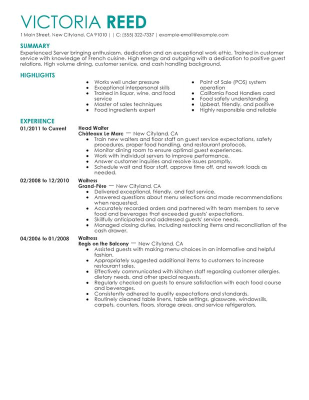 One Job Resume Examples. Sample Of Job Resume Format Sample