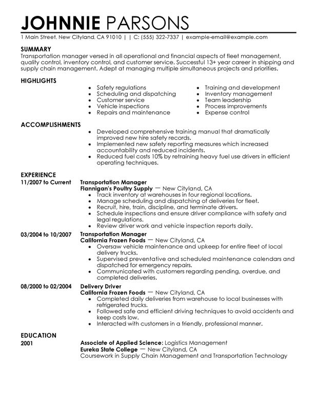 Project Manager Resumes Project Manager Sample Resume For