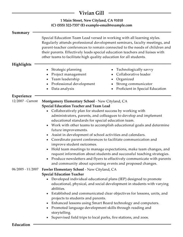 educational leader resume sample job objective examples for any