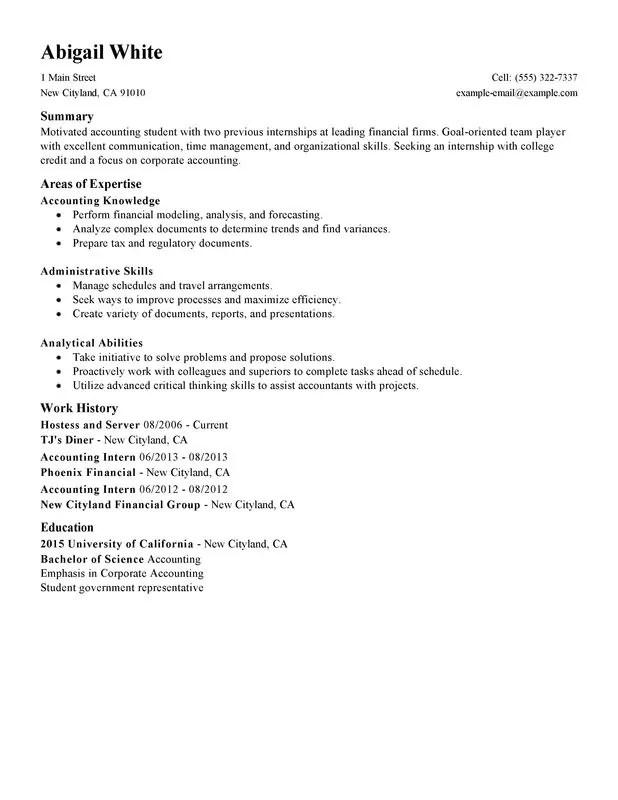 training internship college credits resume sample my perfect resume