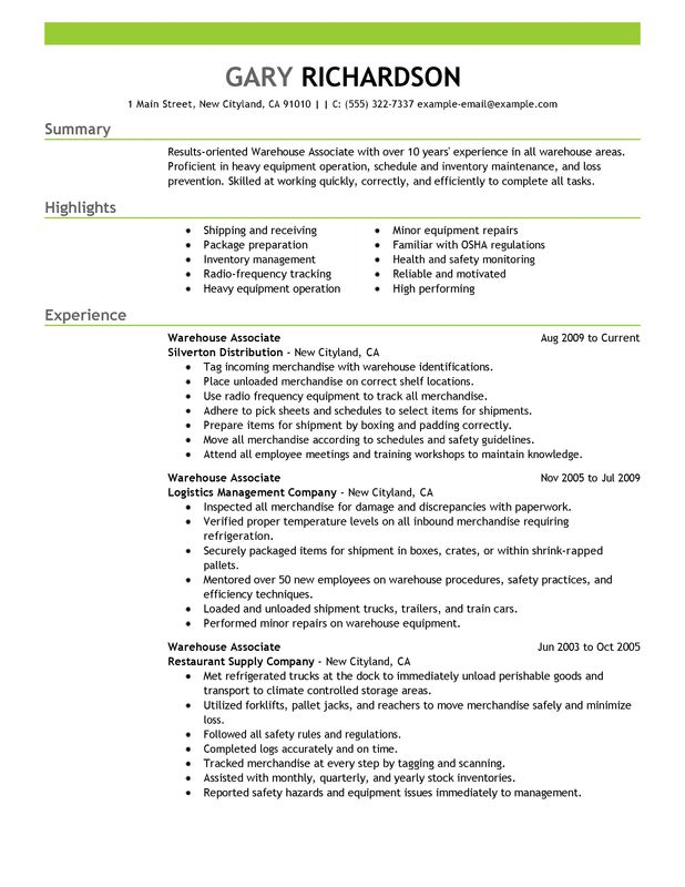 general warehouse resume cover letter template for general