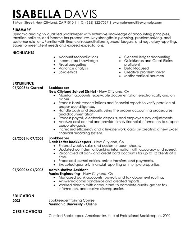 Examples Of The Perfect Resume. Unforgettable Houseperson Resume