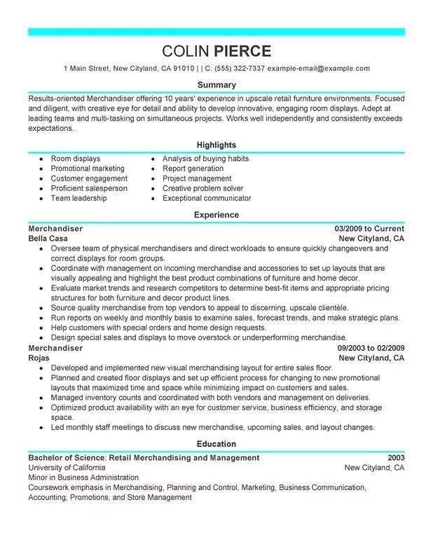 retail representative part time resume sample my perfect resume