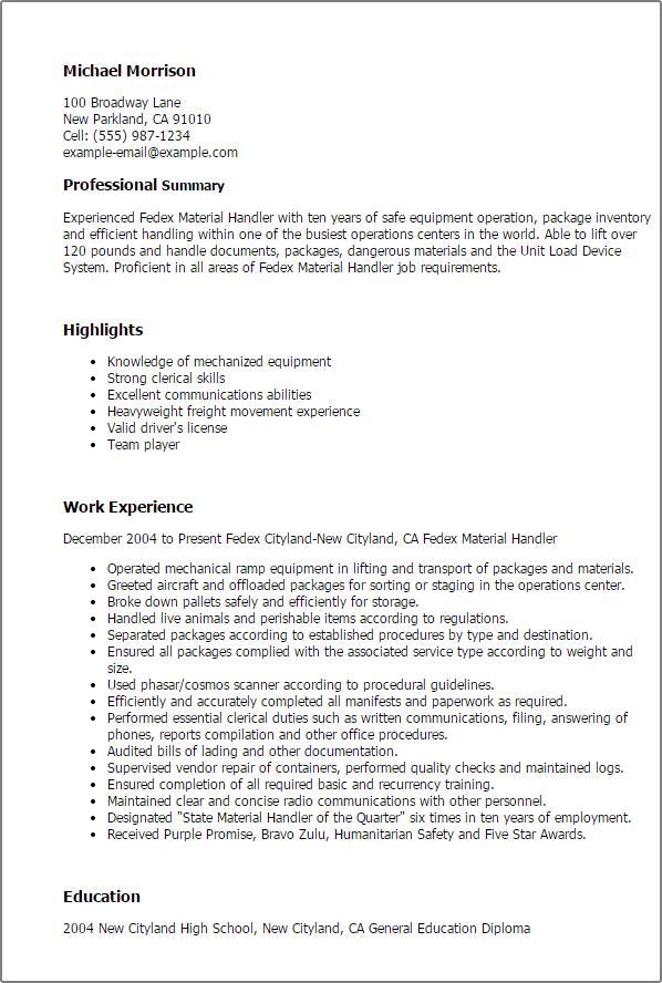 Handler Cover Letterjpg Material Letter Example Resume