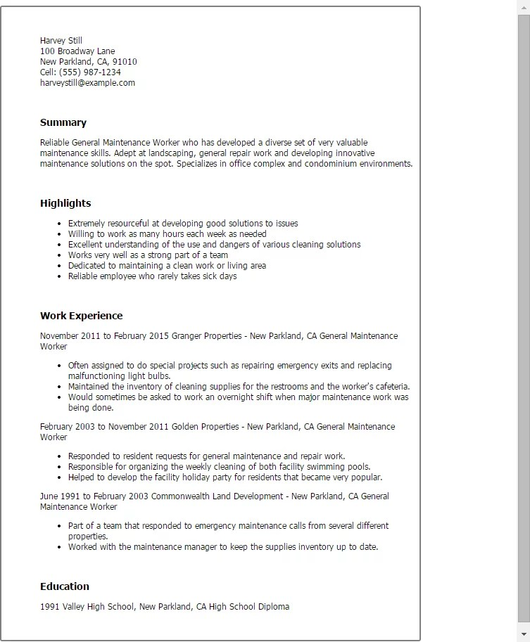 Resume Warehouse Worker. Production Worker Resumes Template