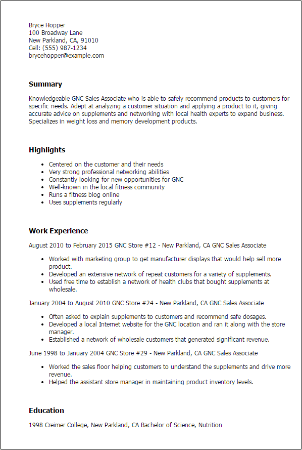 best buy sales associate job description resume