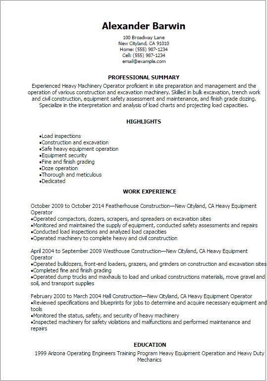 computer operator resume samples sample resume chemical operator
