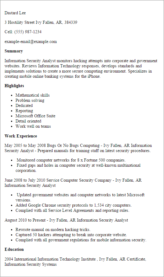 Claims Representative Resume